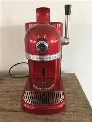 Cherry red Kitchenaid Nespresso coffee machine