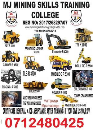 Mining machines operations training 0712480425 in hendrina secunda carolina erlmelo middleburg witbank