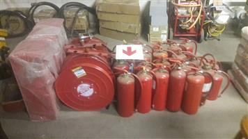 Fire extinguishers and fire hoses