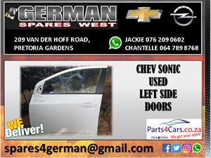 CHEV SONIC USED LEFT FRONT SIDE DOOR FOR SALE