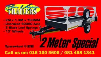 2 Meter Utility Trailer