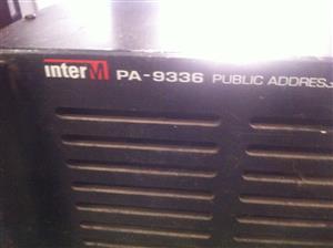 InterM PA-9336 PA Amplifiers