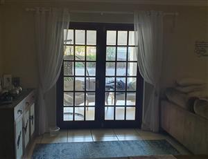 Cottage style meranti double doors