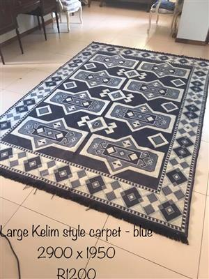 Large Kelim style carpet for sale