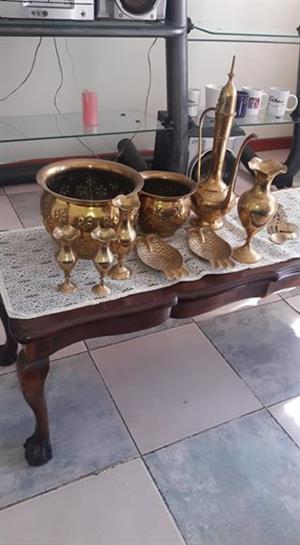 Brass items for sale pls contact cathrine