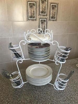 Crockery and cutlery stand