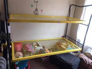Bunk beds.  (No mattress)