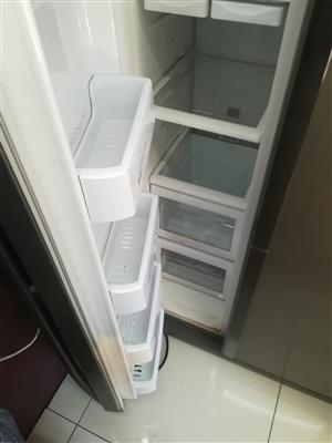 Double Door Metallic Samsung Fridge  For Sale