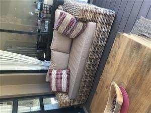 Cane couch for sale