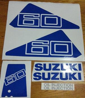 Suzuki DT 60 outboard motor cowl decals stickers vinyl graphics kits