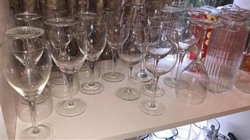 Various wine glasses for sale
