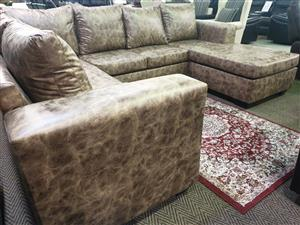 Brighton Buffalo Suede lounge suite for sale WAS R 12345 NOW R 9495