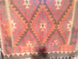 Kelim Hand Woven Wool Rug.