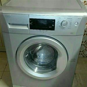 Silver Defy front loader washing machine
