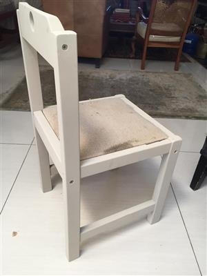 Single pine chair in a French chalk paint finish  - priced to go