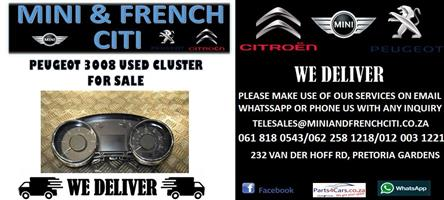 PEUGEOT 3008 USED CLUSTER FOR SALE