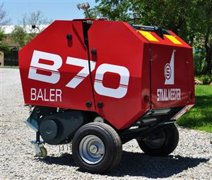 S2336 Red Staalmeester B70 Mini Round Baler New Implement