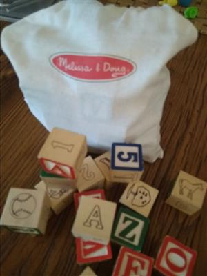 Melissa and Doug Wooden Alphabet Blocks
