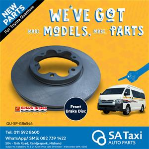 NEW Front Brake Disc suitable for Toyota Quantum