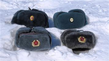 Ushanka Fur Hats & Badges