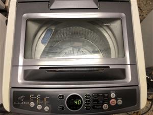 Samsung 9kg diamond drum Metallic Silver top loader washing machine