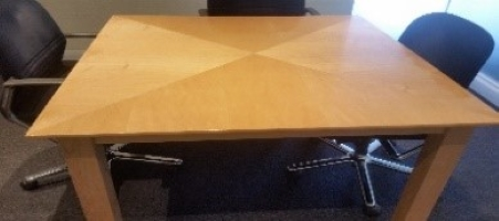 4-Seater Wooden Boardroom Table