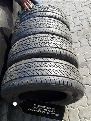 4pc of P235 / 65 / R17 used Tyres for sale.