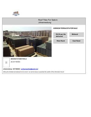 Horison Terracota Roof Tiles for Sale