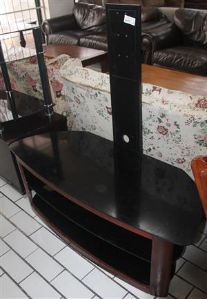 Black glass plasma stand S046272A #Rosettenvillepawnshop