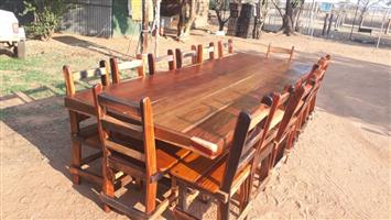 14 Seater sleeper wood table