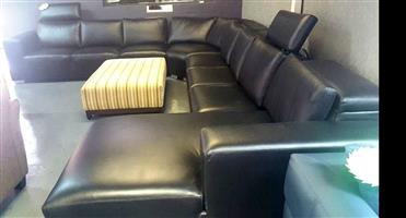 Genuine Leather Corner Couch - On special