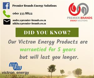 Victron Energy - 5 Year Warranty - Solar Energy Products