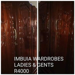 Excellent condition Imbuia wardrobes