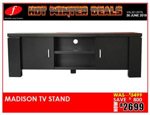 TV STAND MADISON ON PROMOTION !!!! FOR ONLY R2 699 BRAND NEW!!!!!