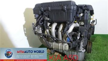 Imported used   KIA RIO 1.5L , A5D engine Complete