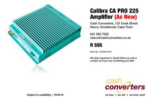 Calibra CA PRO 225 Amplifier (As New)