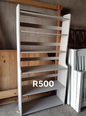 6 Tier white wooden shelf for sale