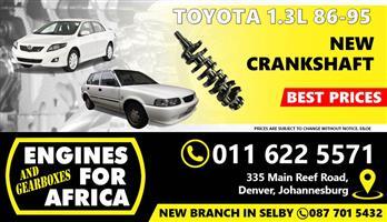 New Toyota Corolla / Tazz 2E 1.3L 86-95 Crankshaft FOR SALE