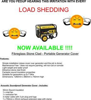 Generator Cover  - Load Shedding
