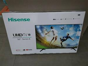 Factory sealed in box bns HISENSE 50inch (128 cm) Smart UHD HDR LED TV