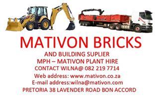 Mativon Bricks,Sand & Paving