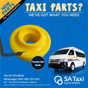NEW Torsion Bar Bush suitable for Toyota Quantum - SA Taxi Auto Parts quality spares