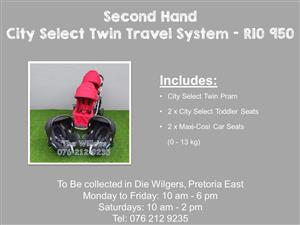 Second Hand City Select Twin Travel System