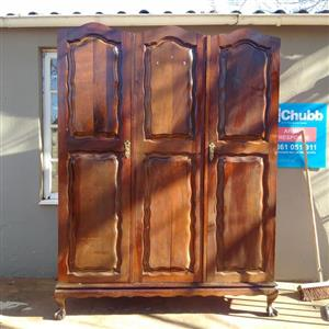 Beautiful Heavy Vintage Imbuia Ball and Claw Wardrobe for Sale