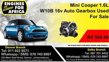 Mini Cooper 1.6L W10B 16v Auto Gearbox Used For Sale.