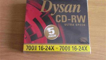 New Dysan 700 mb cds Ultra speed