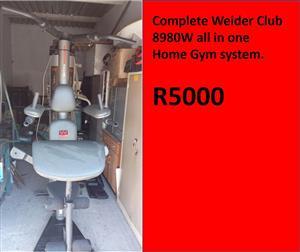 Weider club home gym for sale