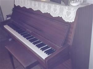 Upright Rippen piano with chair for sale