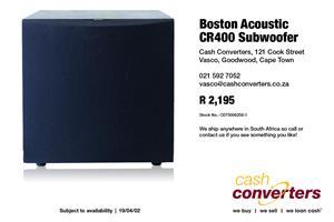 Boston Acoustic CR400 Subwoofer