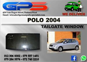 VW Polo 2004 Tailgate Window Used Part for Sale